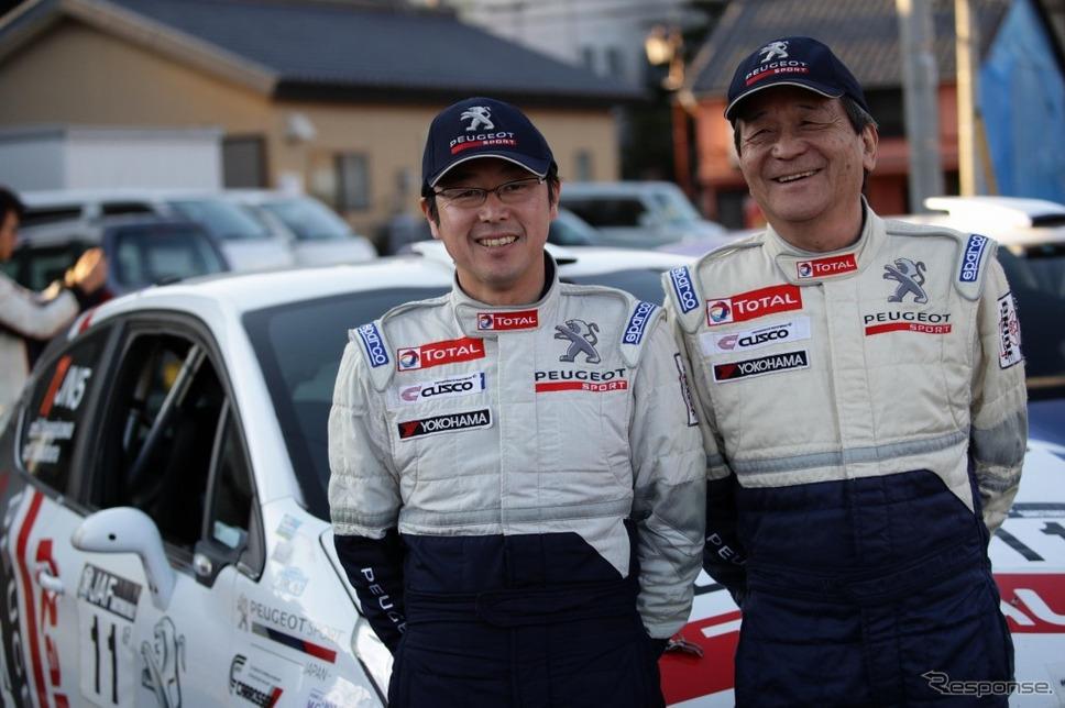 ラリープラス・クスコレーシング・ラリーチーム 柳澤宏至選手(左)/中原祥雅選手(右)