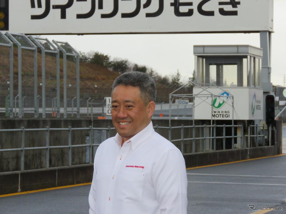 ホンダの山本モータースポーツ部長。撮影:遠藤俊幸