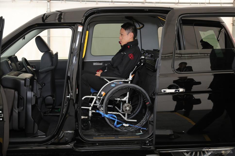 トヨタ次世代タクシー《撮影 愛甲武司》