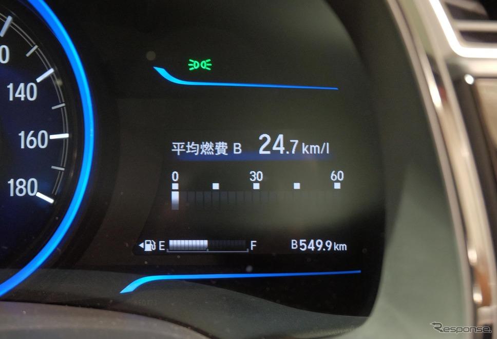 平均実燃費は23.7km/リットル。燃費計との差は4%程度で、許容範囲内と言えた。《撮影 井元康一郎》