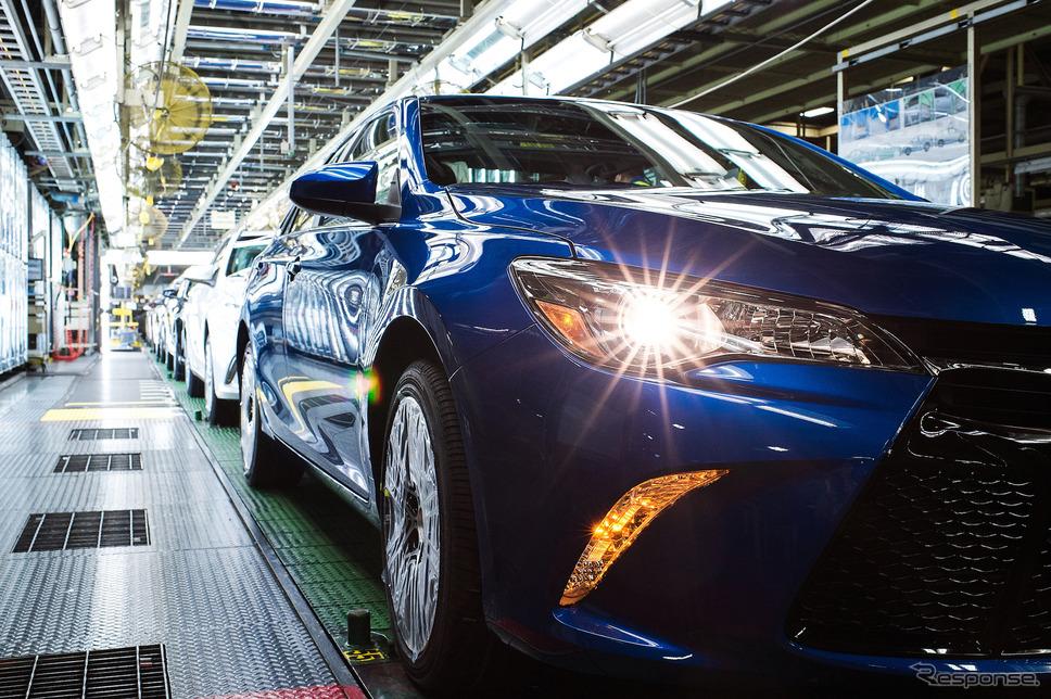 トヨタの米ケンタッキー工場。カムリを生産。