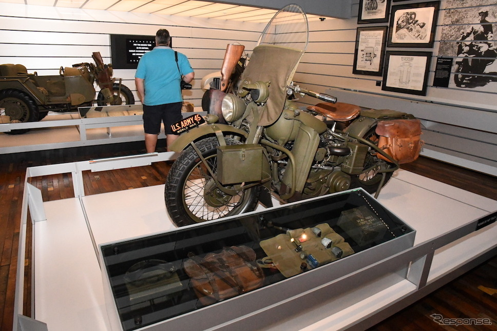 現在もマニアが多い軍用モデル。H-Dミュージアムで見ることができる。《撮影 青木タカオ》