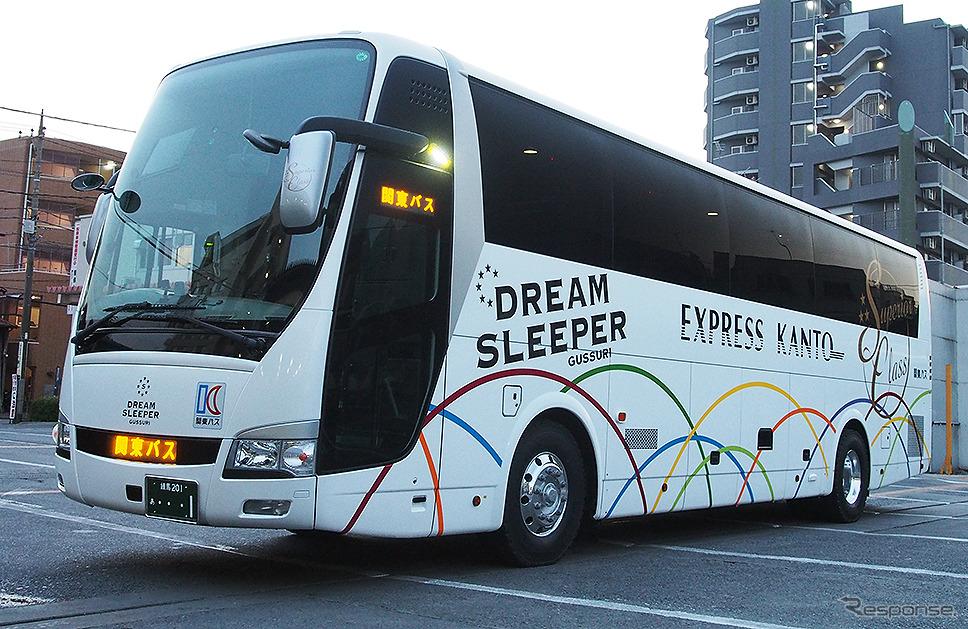 関東バスが保有する「ドリームスリーバー東京大阪号」(両備ホールディングス/関東バス)