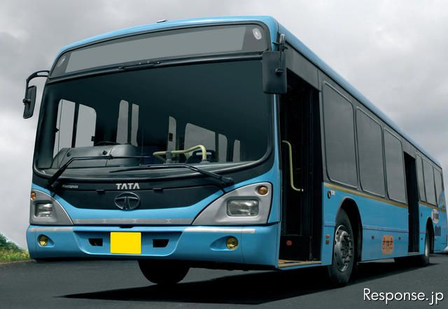 タタ Semi-low Floor RE bus on LPO 1618