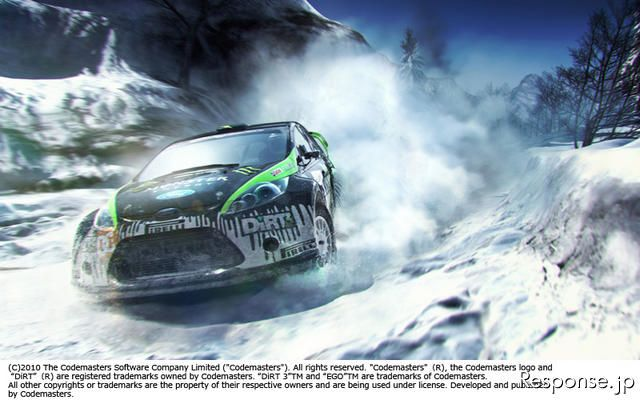 "DiRT 3(C)2010 The Codemasters Software Company Limited (""Codemasters""). All rights reserved. ""Codemasters""(R), the Codemasters logo and ""DiRT""(R) are registered trademarks owned by Codemasters. ""DiRT 3""TM and ""EGO""TM are trademarks of Codemasters. All oth"