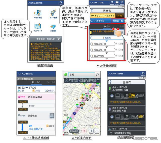 Androidアプリ バスNAVITIME 提供開始