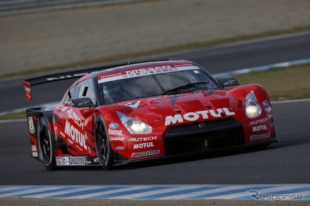 NISMOのGT-RはGT500クラス6位(写真は予選日)。photo:MOBILITY LAND