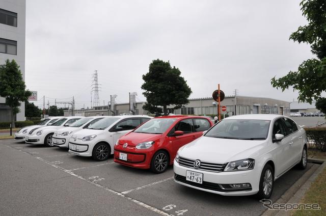 VW パサートとup!