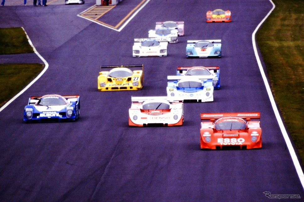 Cカー全盛期の1991年鈴鹿1000kmレース スタートシーン