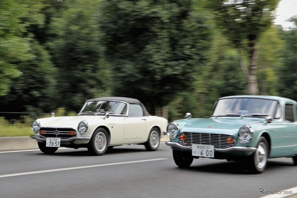 ホンダ S800(左)とS600C《撮影 内田千鶴子》