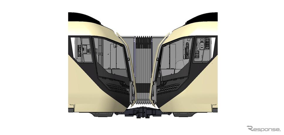 「リバティ」併結イメージ《提供 東武鉄道》