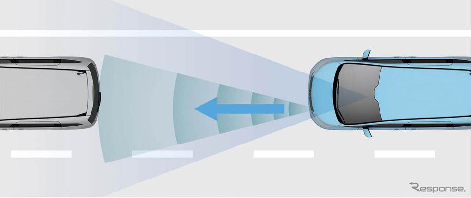 「ACC」。前走車と適切な車間距離を保ち、運転時の疲労軽減に役立つ