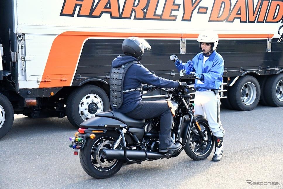 ハーレーダビッドソン大試乗会inお台場は11月27日も開催される。撮影 青木タカオ