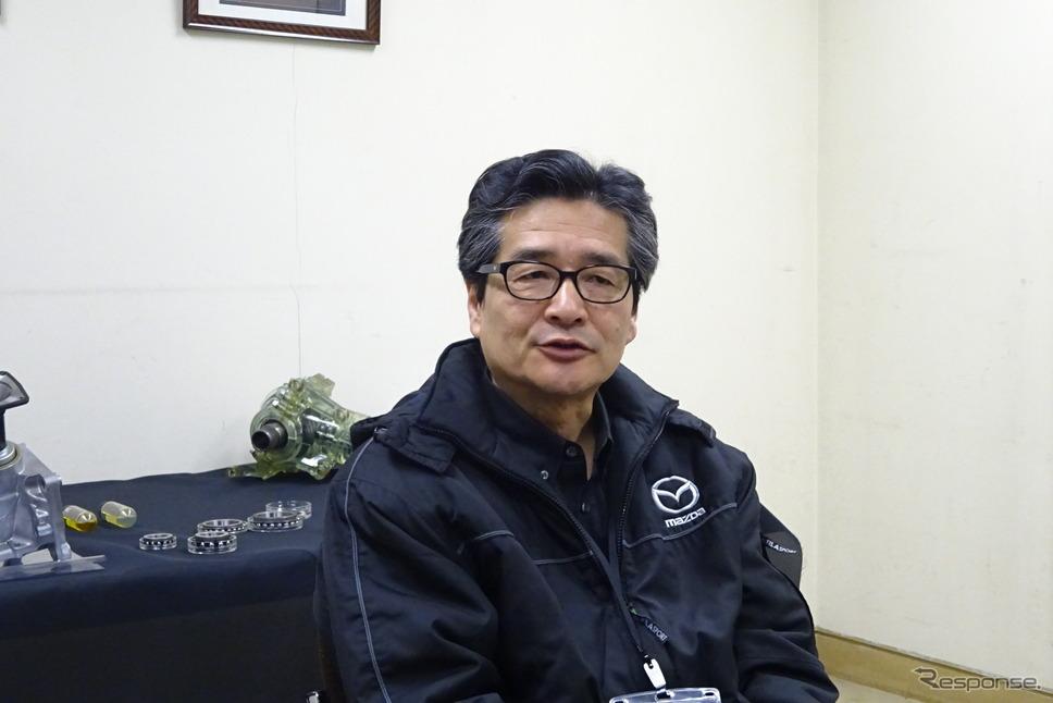 マツダ 竹下仁・商品本部本部長《撮影 池原照雄》