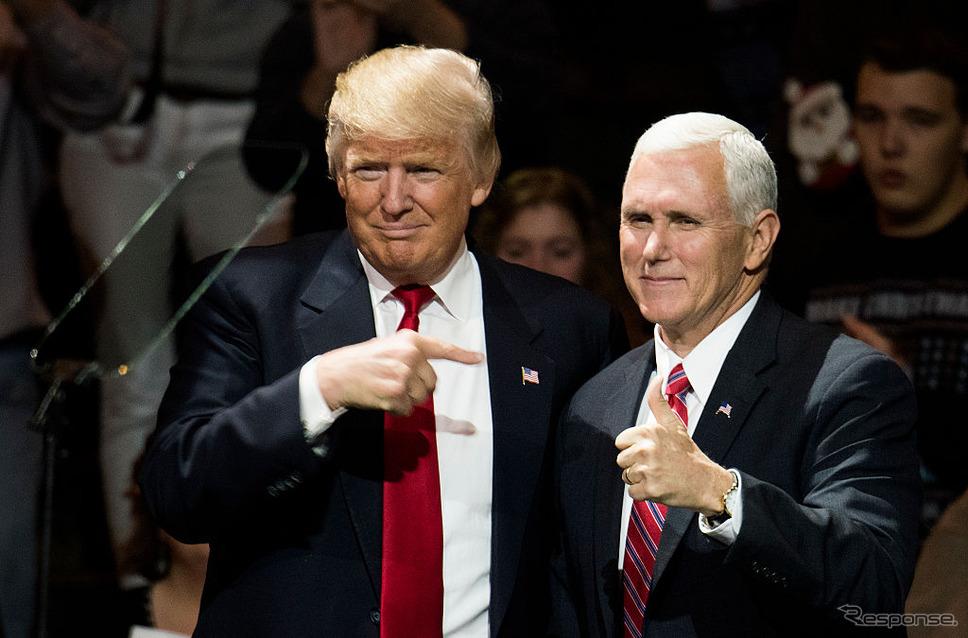 ドナルド・トランプ次期大統領とマイク・ペンス次期副大統領《写真 Getty Images》