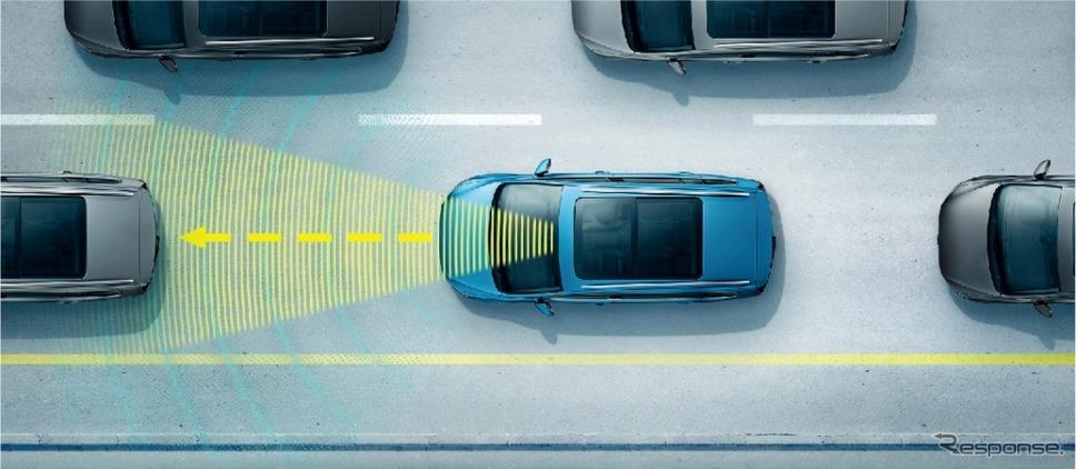 渋滞時追従支援システム「トラフィックアシスト」(イメージ)