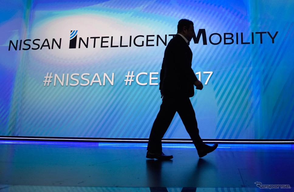 日産自動車のゴーン会長兼CEO(CES 2017) (c) Getty Images