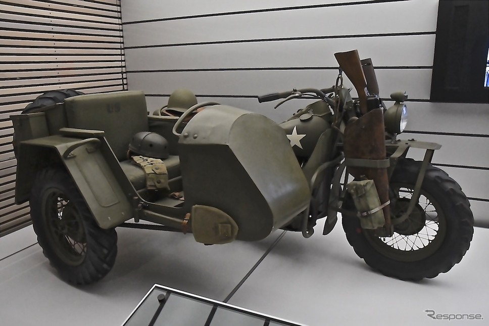 水平対向2気筒エンジンを積むXA(1941年)。H-Dミュージアムで見ることができる。《撮影 青木タカオ》