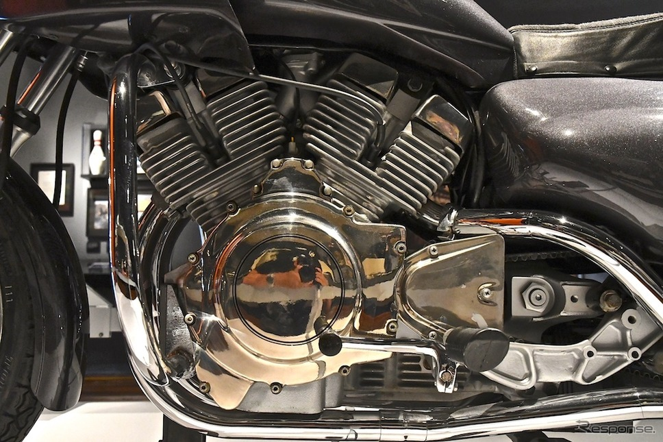 水冷V型4気筒エンジンを搭載する『NOVA』(1981年)は、市販化には至らなかった。アメリカ・ミルウォーキーにあるH-Dミュージアムにて。《撮影 青木タカオ》