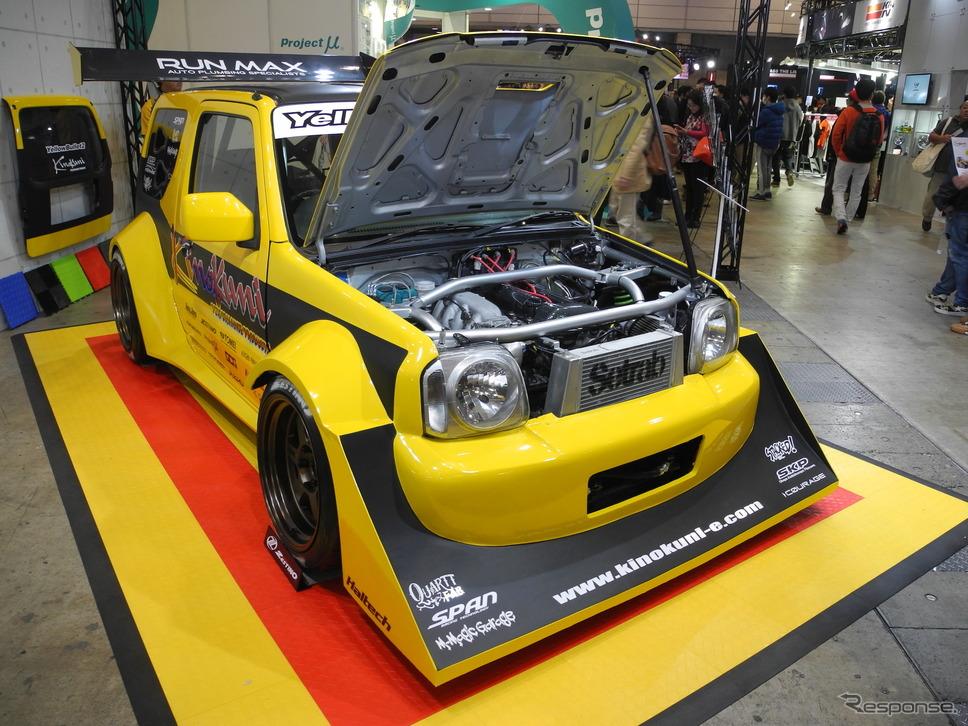 クァートファブリケーションが製作したスズキ『ジムニー』の改造車「イエローバレット2」《撮影 山田清志》