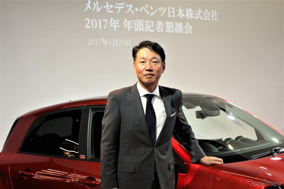 メルセデス・ベンツ日本代表取締役社長兼CEOの上野金太郎氏《撮影 内田俊一》