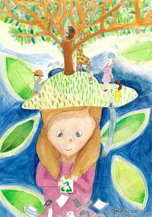 銅賞「私の大切な自然」友森さくらさん(5年生)