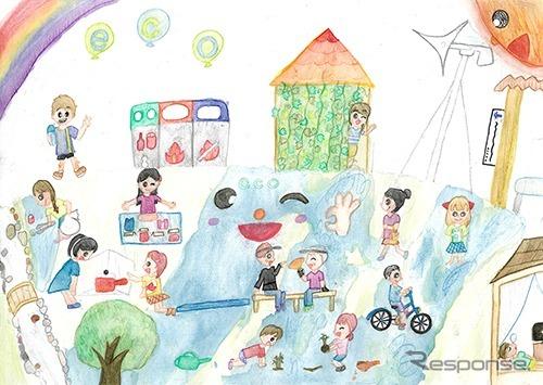 銀賞「みんなが笑顔のエコ活動」藤本佳奏さん(4年生)