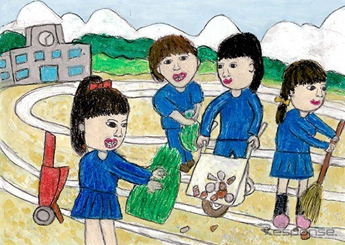 銅賞「学校の運動場をみんなでキレイにしよう」吉村愛音さん(3年生)