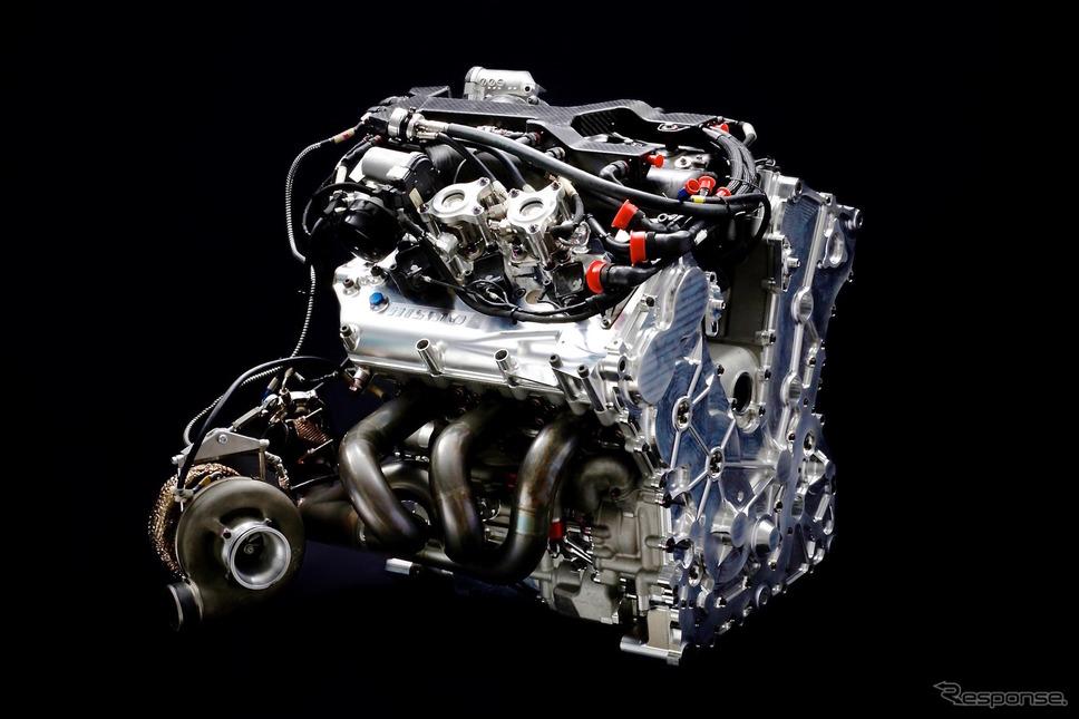 LMP1用エンジン。プライベーターのバイコレスに供給される。《写真 NISSAN/NISMO》
