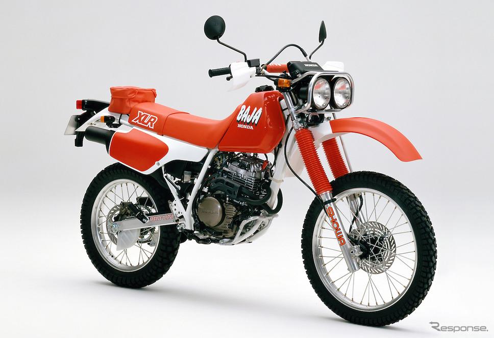 1987年のランドスポーツバイク 、ホンダ XLR BAJA(バハ)。《画像提供 ホンダモーターサイクルジャパン》