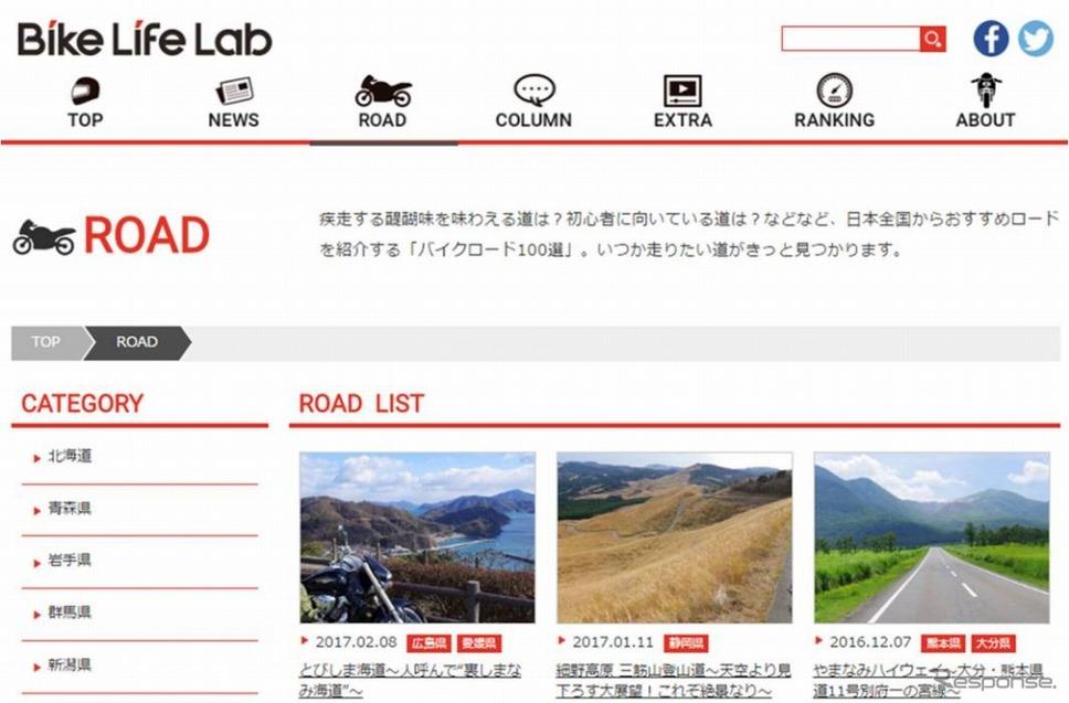 バイク王 バイクライフ研究所が開設したバイクライフ・コンテンツサイト「バイクライフラボ」