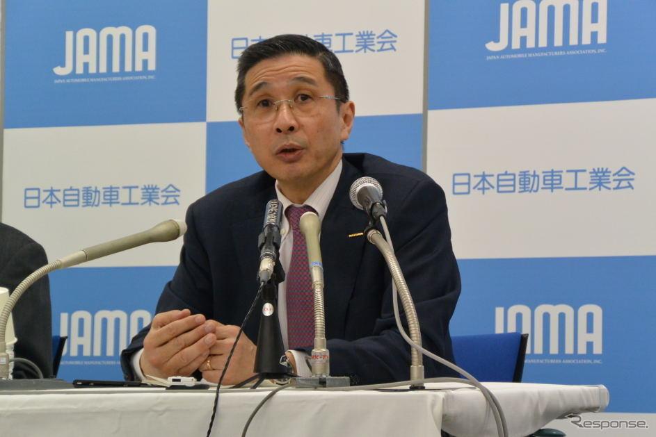 日本自動車工業会 西川廣人 会長《撮影 小松哲也》