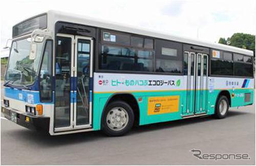 客貨混載を実施しているバス(宮崎交通・宮崎県)