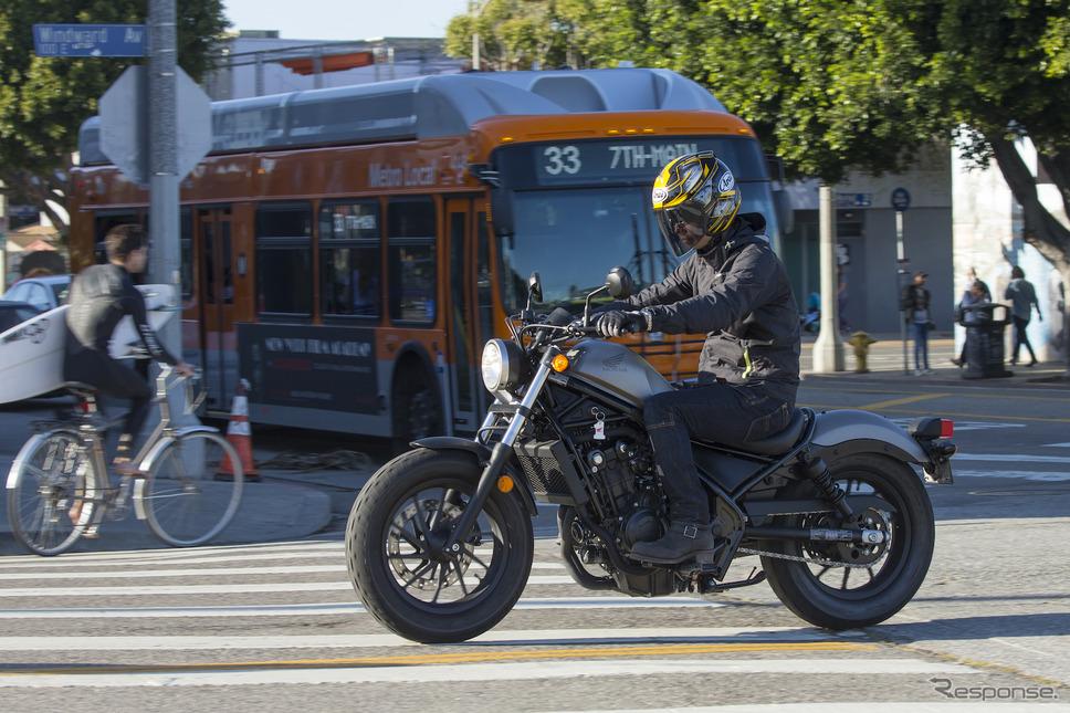 アメリカ・ロサンゼルスで初試乗したHonda レブル500。《画像提供 ホンダ》