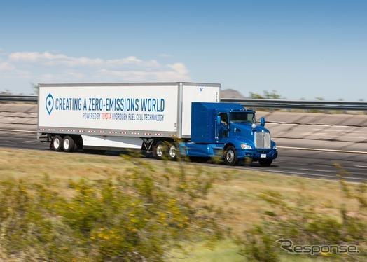 トヨタの燃料電池の大型商用トラック
