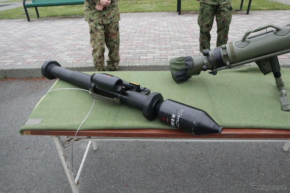 陸自の対戦車ロケット砲《撮影 中尾真二》