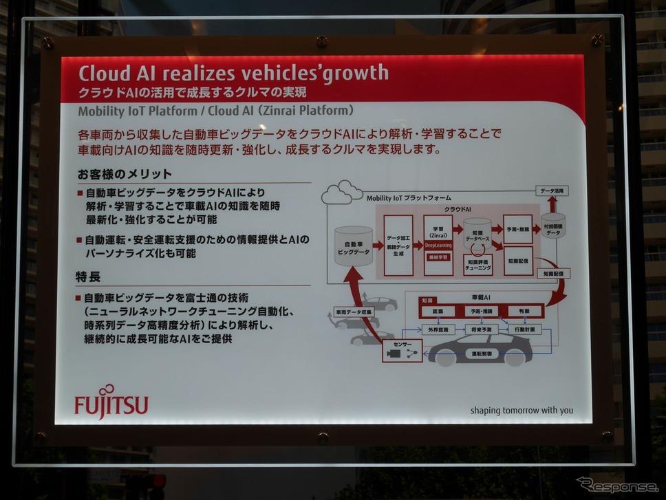 クラウドAIは、富士通のMobility IoTサービスの一つとして展開される《撮影 佐藤耕一》