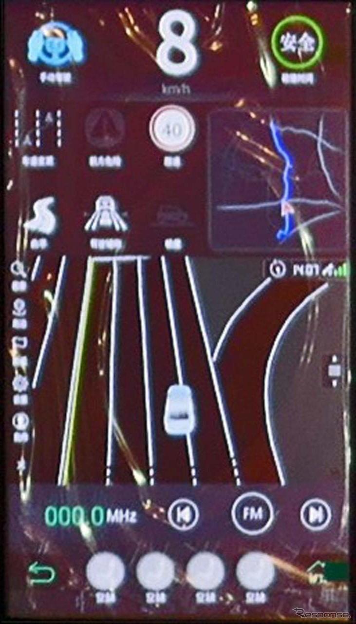 須磨0とコックピットでは車線ごとの情報に基づいたガイドを「HAD Map」で展開していた