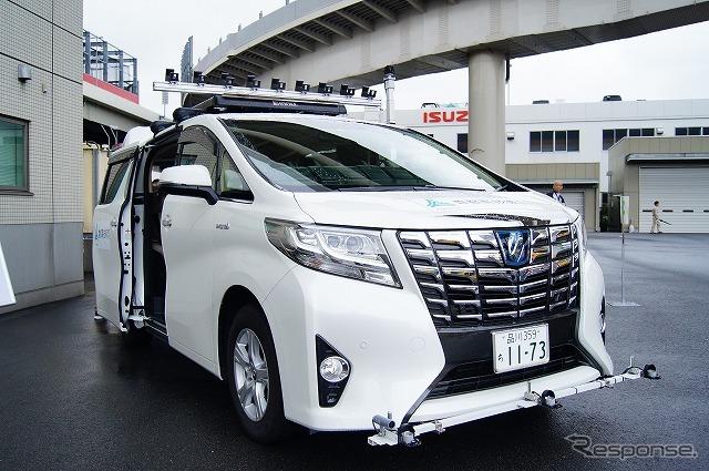 こちらは照度や電界強度の測定車両。《撮影 石田真一》
