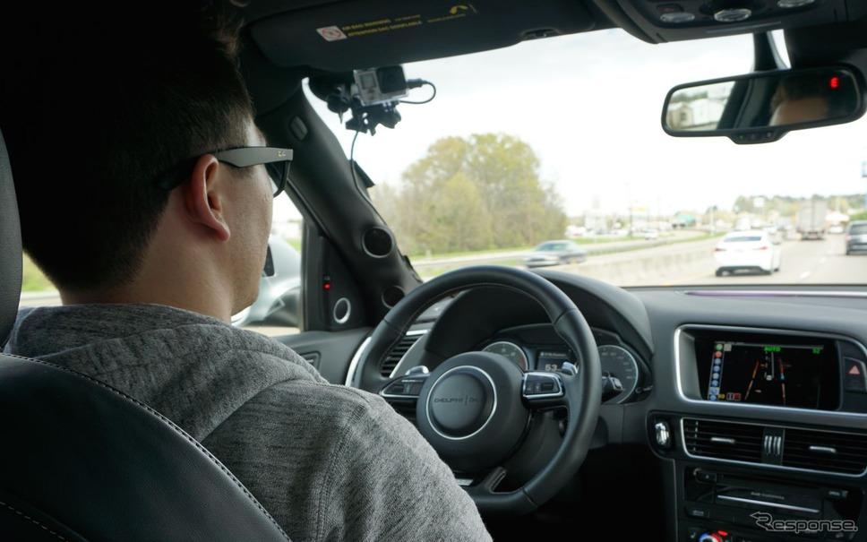 デルファイの自動運転車(アウディQ5)
