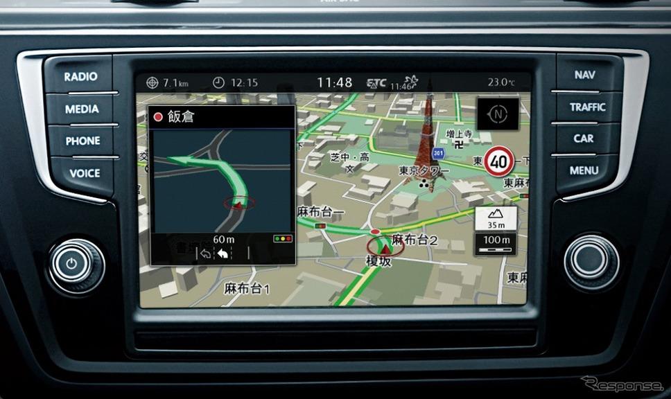 VW ゴルフ トゥーラン TSI コンフォートライン テック エディション純正インフォテイメントシステム ディスカバープロ