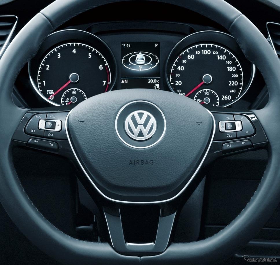 VW ゴルフ トゥーラン TSI コンフォートライン テック エディションレザーマルチファンクションステアリングホイール