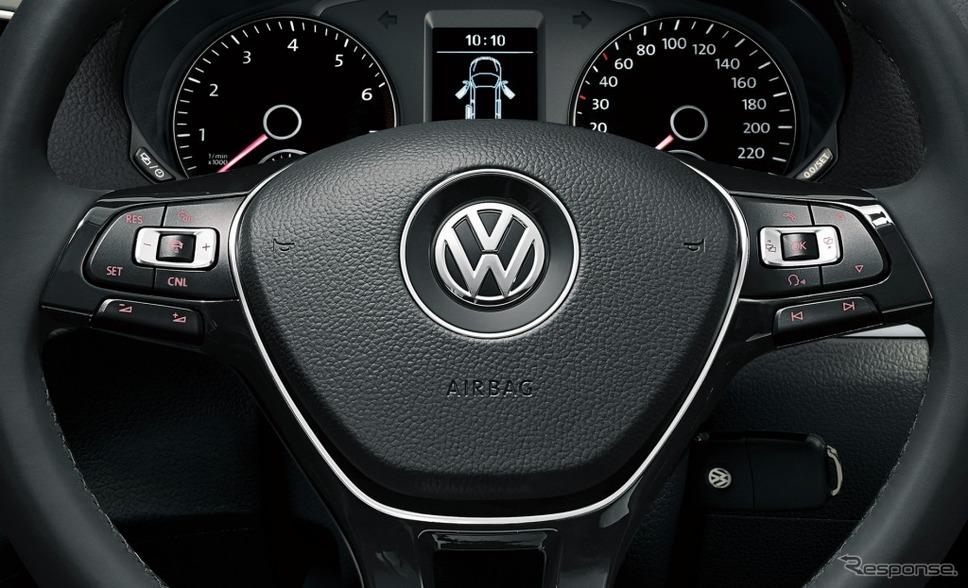 VW シャラン TSI コンフォートライン テック エディションレザーマルチファンクションステアリングホイール