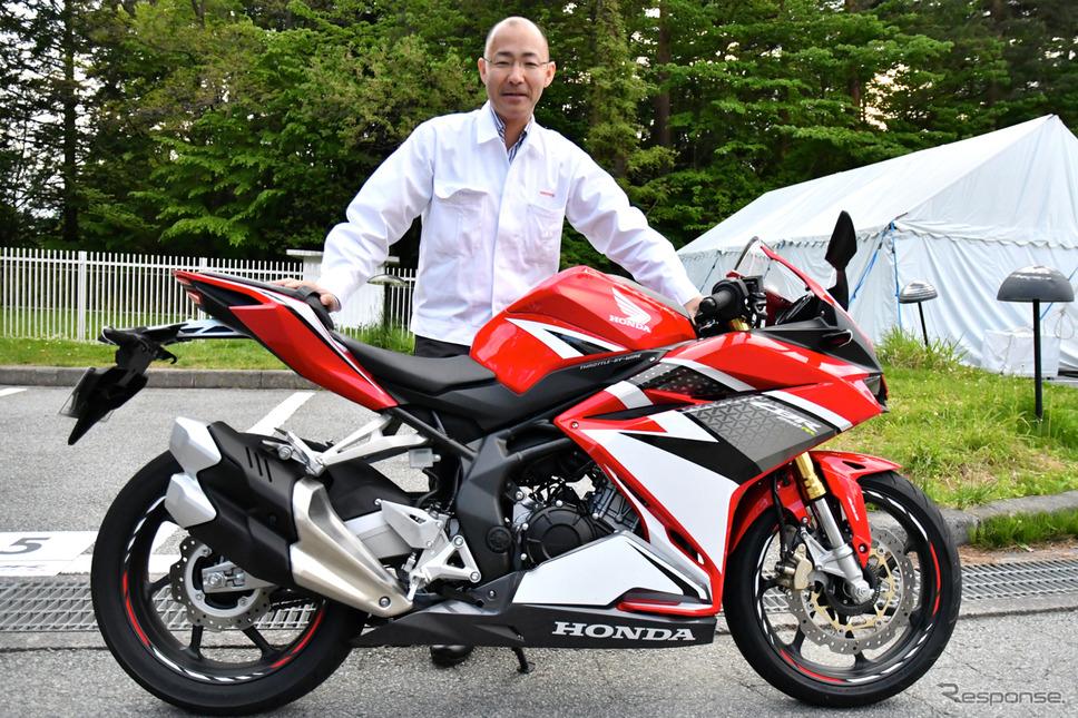 CBR250RR開発責任者、株式会社本田技術研究所 二輪R&Dセンター 河合健児さん。《撮影 青木タカオ》