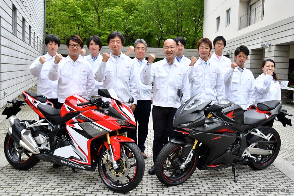 ホンダCBR250RR開発チーム。《撮影 青木タカオ》