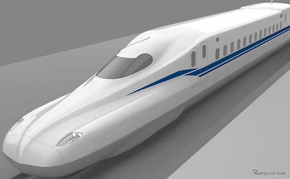 JR東海の新型新幹線「N700S」の先頭部イメージ。左右両サイドにエッジを立てた形状を採用する。《出典 東海旅客鉄道》