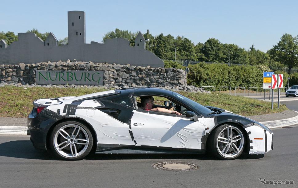 フェラーリ 488 GTO スクープ写真《APOLLO NEWS SERVICE》