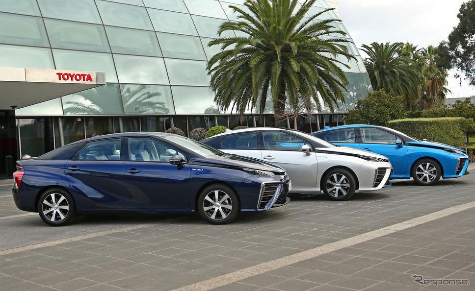 燃料電池自動車の例:トヨタMIRAI
