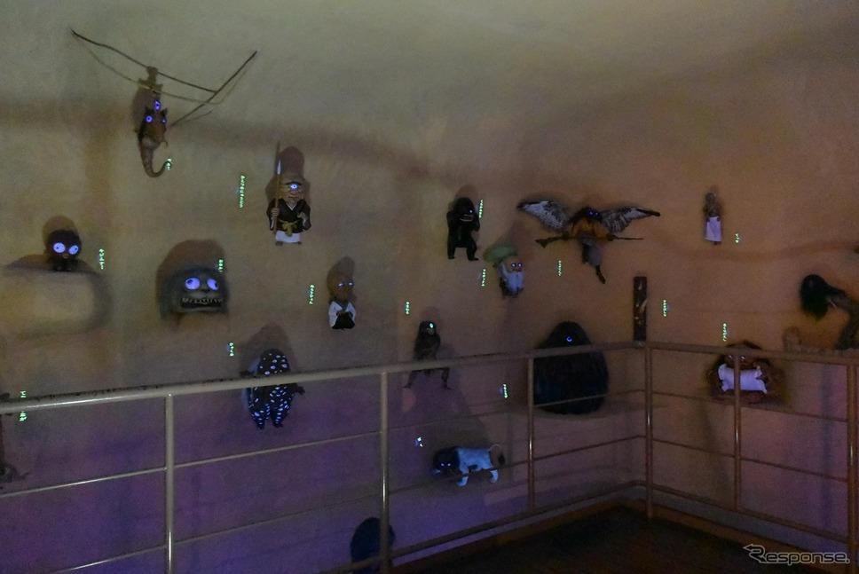 水木しげる氏の創作を含む種々の妖怪を再現した部屋も。《撮影 井元康一郎》