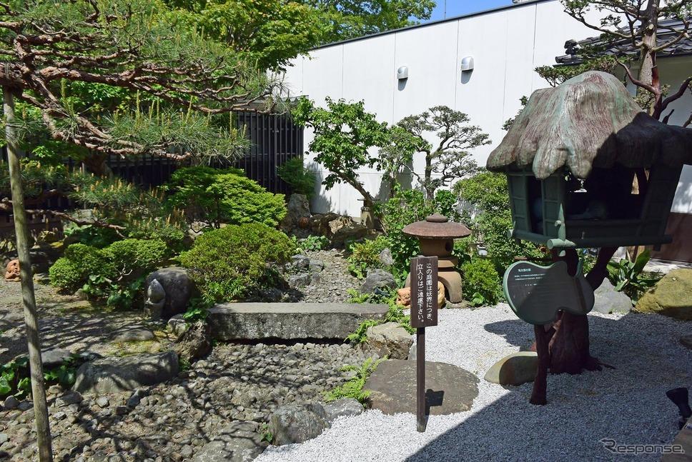 中庭は小さな日本庭園となっていた。《撮影 井元康一郎》